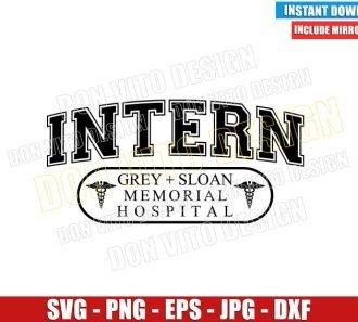 Intern Greys Anatomy (SVG dxf png) Grey Sloan Memorial Hospital Logo Cut File Cricut Silhouette Vector Clipart - Don Vito Design Store