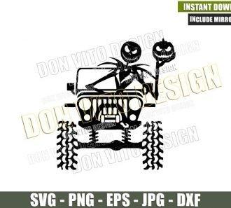 Jack Skellington Jeep Halloween (SVG dxf png) Pumpkin 4×4 Vehicle Off Road Cut File Cricut Silhouette Vector Clipart - Don Vito Design Store