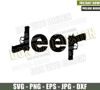 Jeep Guns Silhouettes (SVG dxf png) 4x4 Vehicle Off Road Outdoor Life Cut File Cricut Silhouette Vector Clipart - Don Vito Design Store