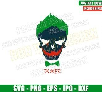 Joker Suicide Squad Logo (SVG dxf png) Skull Head Dc Comics Cut File Cricut Silhouette Vector Clipart - Don Vito Design Store