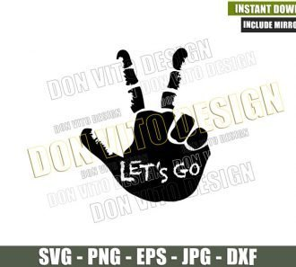Lets Go Jeep Wave (SVG dxf png) Hand Fingers Vehicle Off Road Car Cut File Cricut Silhouette Vector Clipart - Don Vito Design Store