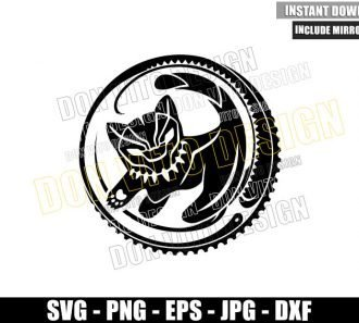 Lion King Black Panther (SVG dxf png) Baby Simba Logo Disney Movie Cut File Cricut Silhouette Vector Clipart - Don Vito Design Store