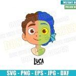 Luca Head Half Sea Monster Half Human (SVG dxf png) Disney Cut File Cricut Silhouette Vector Clipart T-Shirt Design Pixar Movie svg