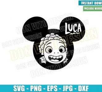 Luca Head Mickey Ears (SVG dxf png) Disney Sea Monster Face Cut File Cricut Silhouette Vector Clipart - Don Vito Design Store