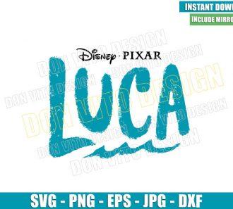 Luca Logo (SVG dxf png) Disney Pixar Movie Kids Cut File Cricut Silhouette Vector Clipart - Don Vito Design Store