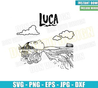 Luca Movie Sea Monster (SVG dxf png) Disney Pixar Luca Outline Cut File Cricut Silhouette Vector Clipart - Don Vito Design Store