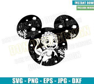 Luca Sea Monster Mickey Head (SVG dxf png) Disney Ears Cut File Cricut Silhouette Vector Clipart - Don Vito Design Store