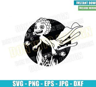 Luca Sea Monster Outline (SVG dxf png) Disney Movie Fish Cut File Cricut Silhouette Vector Clipart - Don Vito Design Store