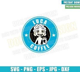 Luca Starbucks Coffee (SVG dxf png) Disney Sea Monster Label Cut File Cricut Silhouette Vector Clipart - Don Vito Design Store