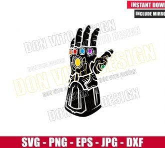 Marvel Infinity Gauntlet Thanos (SVG dxf png) Avengers EndGame Movie Cut File Cricut Silhouette Vector - Don Vito Design Store