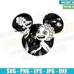 Mickey Head Luca Alberto (SVG dxf png) Sea Monsters Disney Cut File Cricut Silhouette Vector Clipart T-Shirt Design Pixar Movie svg