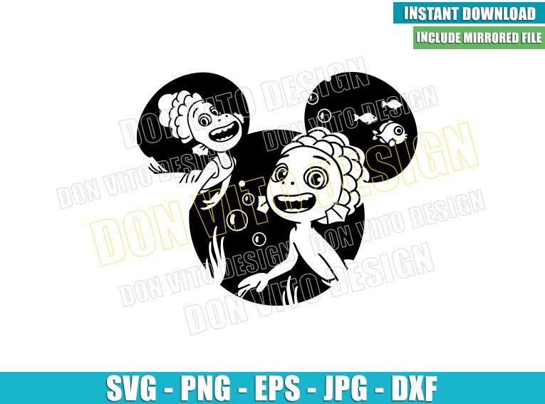 Mickey Head Luca Alberto (SVG dxf png) Sea Monsters Disney Cut File Cricut Silhouette Vector Clipart - Don Vito Design Store