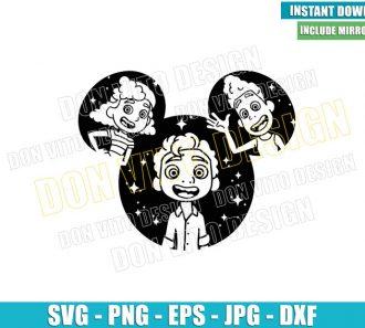Mickey Head Luca Friends (SVG dxf png) Alberto Giulia Cut File Cricut Silhouette Vector Clipart - Don Vito Design Store
