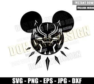 Mickey Mouse Black Panther (SVG dxf png) Wakanda Disney Superhero Cut File Cricut Silhouette Vector Clipart - Don Vito Design Store