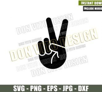 Peace Sign Jeep Wave (SVG dxf png) Hand Fingers Vehicle Offroad Truck Cut File Cricut Silhouette Vector Clipart - Don Vito Design Store