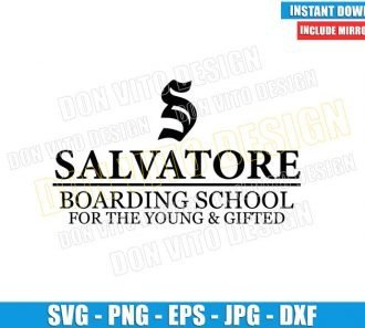 Salvatore Boarding School (SVG dxf png) For the Young & Gifted Cut File Cricut Silhouette Vector Clipart - Don Vito Design Store