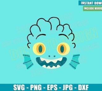 Sea Monster Luca Face (SVG dxf png) Disney Pixar Movie Kids Cut File Cricut Silhouette Vector Clipart - Don Vito Design Store