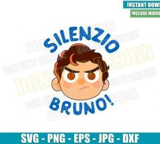 Silenzio Bruno Luca Head (SVG dxf png) Disney Pixar Movie Cut File Cricut Silhouette Vector Clipart - Don Vito Design Store