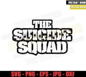 Suicide Squad Logo Outline (SVG dxf png) Superhero Movie Cut File Cricut Silhouette Vector Clipart - Don Vito Design Store