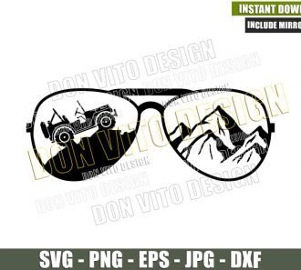Sunglasses Jeep Mountains (SVG dxf png) 4×4 Vehicle Off Road Outdoors Life Cut File Cricut Silhouette Vector Clipart - Don Vito Design Store