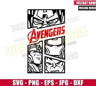 The Avengers Marvel Comics (SVG dxf png) Captain America Hulk Iron Man Thor Cut File Cricut Silhouette - Don Vito Design Store