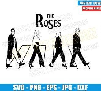 The Roses Abbey road (SVG dxf png) Schitt's Creek Logo Cut File Cricut Silhouette Vector Clipart - Don Vito Design Store