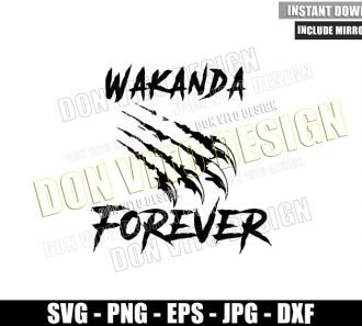 Wakanda Panther Claws Marks (SVG dxf png) Black Panther Forever Cut File Cricut Silhouette Vector Clipart - Don Vito Design Store