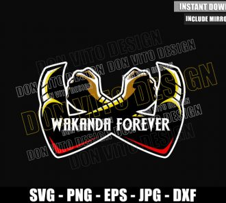 Wakanda Forever Arms Crossed (SVG dxf png) Black Panther Okoye Dora Milaje Cut File Cricut Silhouette Vector Clipart - Don Vito Design Store