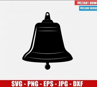 Bell SVG Free Cut File for Cricut Silhouette Freebie School Icon Clipart Vector PNG Image Download Free