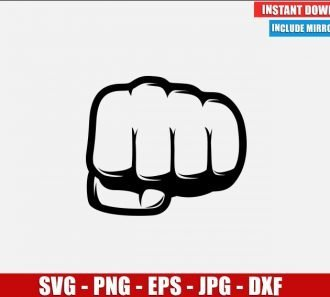 Fist Punch SVG Free Cut File for Cricut Silhouette Freebie Hand Bump Punching Clipart Vector PNG Image Download Free
