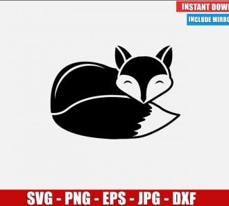 Fox SVG Free Cut File for Cricut Silhouette Freebie Animal Tail Cartoon Clipart Vector PNG Image Download