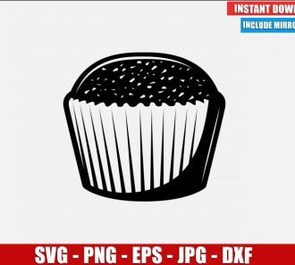 Muffin SVG Free Cut File for Cricut Silhouette Freebie Cupcake Icon Food Cake Clipart Vector PNG Image Download Free