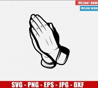 Praying Hands SVG Free Cut File Cricut Silhouette Freebie Palms Folded Praying Clipart Vector PNG Image Download