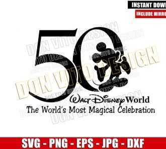 50 Magical Years (SVG dxf png) Walt Disney World 50th Anniversary Cut File Cricut Silhouette Vector Clipart - Don Vito Design Store