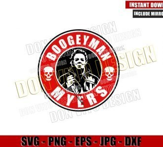 Boogeyman Myers Starbucks Logo (SVG dxf png) Halloween Coffee Label Cut File Cricut Silhouette Vector Clipart - Don Vito Design Store
