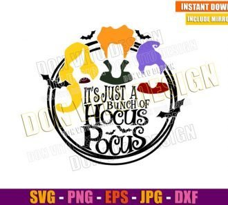 Bunch of Hocus Pocus (SVG dxf png) Sandersons Sisters Halloween Cut File Cricut Silhouette Vector Clipart - Don Vito Design Store