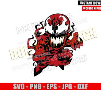 Carnage Cartoon (SVG dxf png) Chibi Red Symbiote Kids Cut File Cricut Silhouette Vector Clipart - Don Vito Design Store