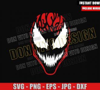 Carnage Head (SVG dxf png) Symbiote Face Marvel Comics Cut File Cricut Silhouette Vector Clipart - Don Vito Design Store