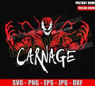 Carnage Monster (SVG dxf png) Red Symbiote Marvel Venom 2 Cut File Cricut Silhouette Vector Clipart - Don Vito Design Store