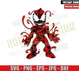 Chibi Carnage Venom 2 (SVG dxf png) Marvel Symbiote Villain Cut File Cricut Silhouette Vector Clipart - Don Vito Design Store