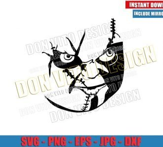 Chucky Face (SVG dxf png) Childs Play Horror Movie Head Cut File Cricut Silhouette Vector Clipart - Don Vito Design Store
