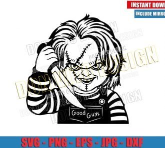 Chucky Good Guys Doll (SVG dxf png) Childs Play Halloween Horror Movie Cut File Cricut Silhouette Vector Clipart - Don Vito Design Store