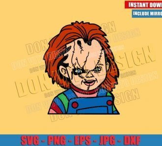 Chucky Horror Movie (SVG dxf png) Childs Play Cut File Cricut Silhouette Vector Clipart - Don Vito Design Store