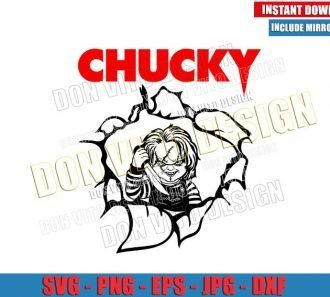 Chucky Logo (SVG dxf png) Halloween Childs Play Character with Knife Cut File Cricut Silhouette Vector Clipart - Don Vito Design Store