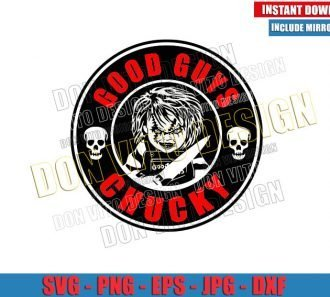 Chucky Starbucks Logo (SVG dxf png) Halloween Coffee Label Cut File Cricut Silhouette Vector Clipart - Don Vito Design Store