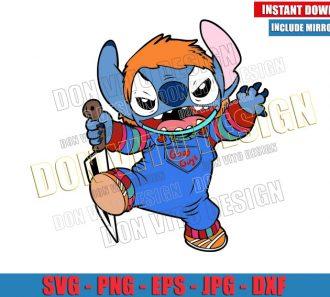 Chucky Stitch (SVG dxf png) Halloween Disney Lilo and Stitch Cut File Cricut Silhouette Vector Clipart - Don Vito Design Store