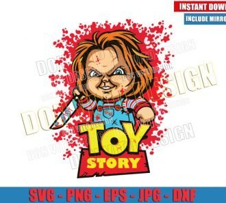Chucky Toy Story Logo (SVG dxf png) Childs Play Horror Movie Cut File Cricut Silhouette Vector Clipart - Don Vito Design Store
