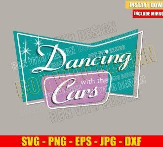 Dancing with the Cars (SVG dxf png) Pixar Popcorn Logo Cut File Cricut Silhouette Vector Clipart - Don Vito Design Store