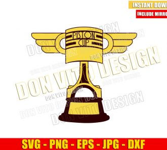 Disney Cars Piston Cup (SVG dxf png) Lightning Mcqueen Racing Trophy Cut File Cricut Silhouette Vector Clipart - Don Vito Design Store