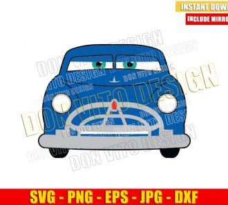 Disney Doc Hudson Hornet (SVG dxf png) Cars Movie Chief Friend Face Cut File Cricut Silhouette Vector Clipart - Don Vito Design Store